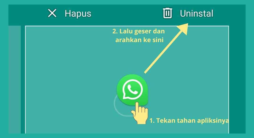 cara keluar dari whatsapp