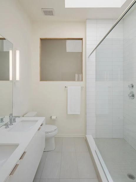Chi tiết phòng tắm của căn nhà phố kiểu Mỹ