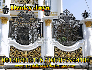 Contoh model pagar besi tempa klasik mewah Jakarta Utara