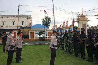 Polda Jambi Gelar Apel Konsolidasi Tim Gabungan Personel TNI- POLRI dalam Operasi ilegal Drilling