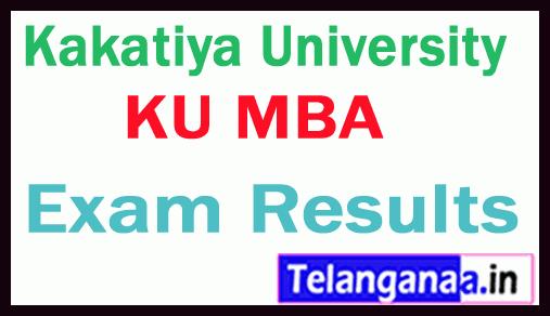Kakatiya University KU MBA Exam Results