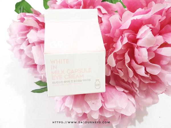 Review G9 Skin White in Milk Capsule Eye Cream