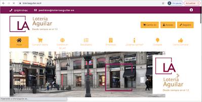 Aplicación del nuevo logotipo de Lotería Aguilar en la web.