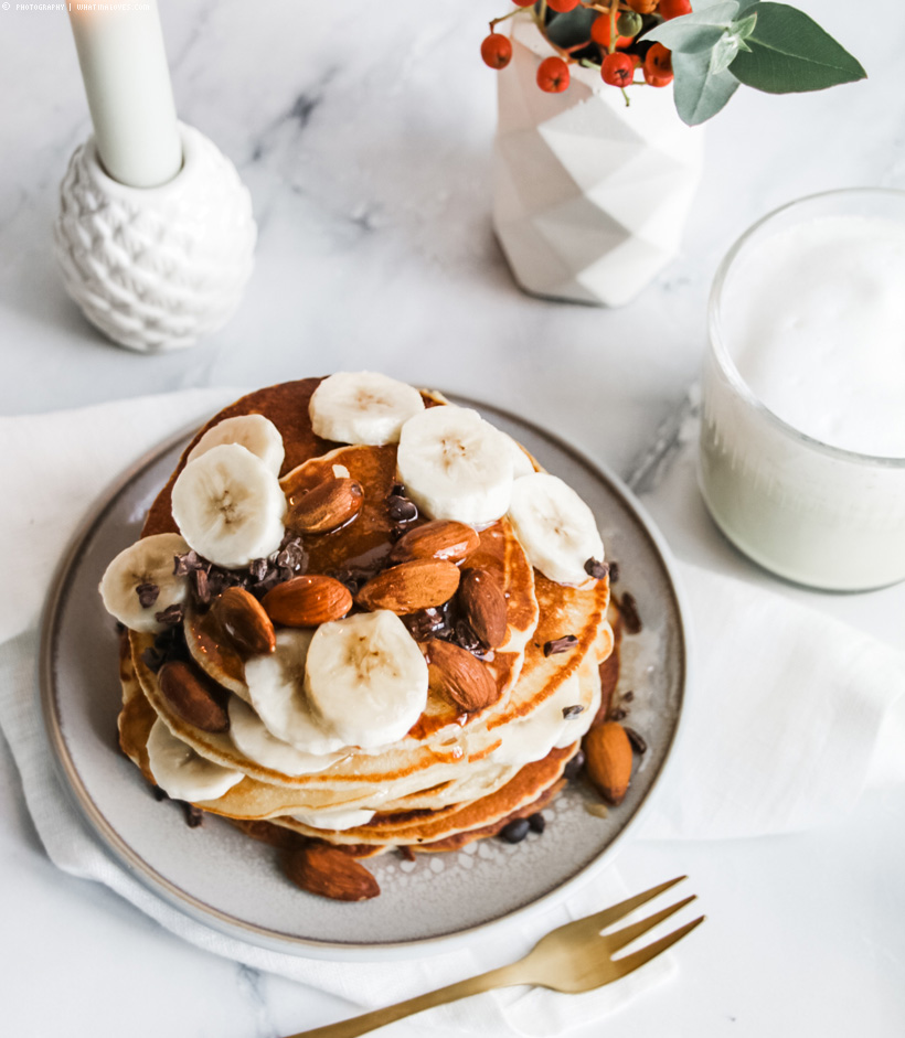 vegan fluffy pancakes