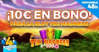 Paston 10€ Slot Tiki Madness de Amatic 18-19 julio 2021