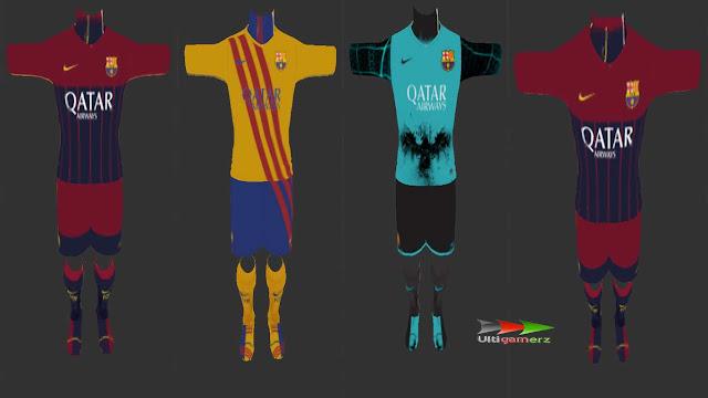 Ultigamerz: FC BARCELONA 2015-16 FANTASY KITS PES 2013
