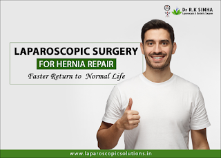 Laparoscopic surgery for hernia repair