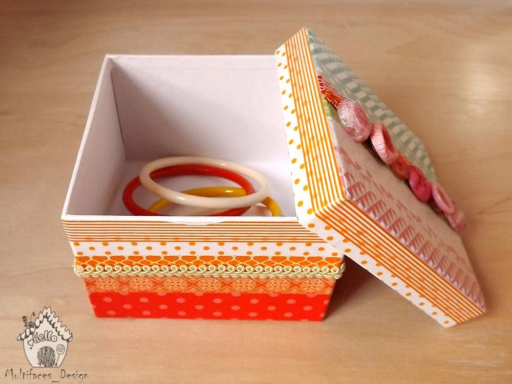 Creando Tutorial Come Rivestire Una Scatola Con Washi Tape