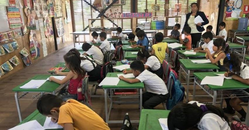 Más de 6 mil estudiantes son evaluados mediante la Prueba Diagnóstica de Salida de Comunicación en la DRE Ucayali