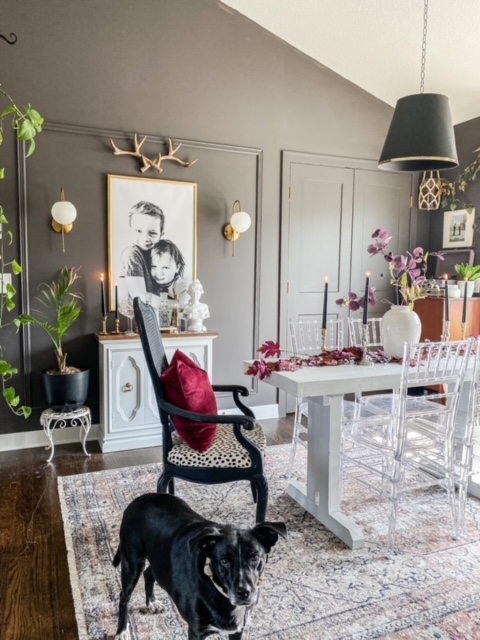 Sherwin Williams Urbane Bronze dining room
