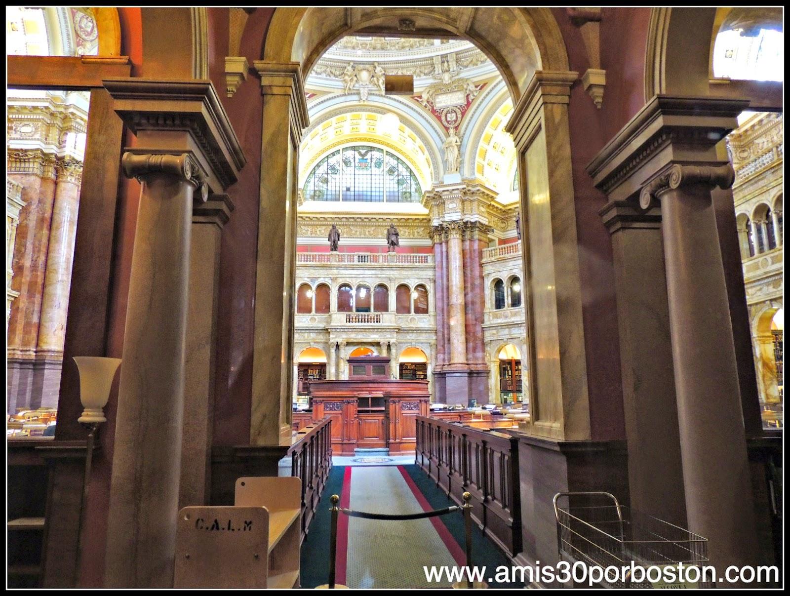 Biblioteca del Congreso de Estados Unidos. Edificio Thomas Jefferson: Sala Principal de Lectura