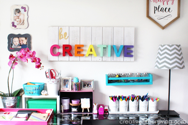 Craft Room Home Office Tour Makeover Reveal