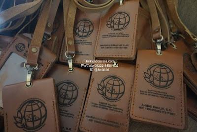 Jual Souvenir Tempat Id Card Kulit Pekanbaru model kalung BPN
