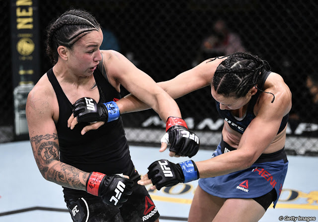 Raquel Pennington Connects Marion Reneau UFC on ESPN 11