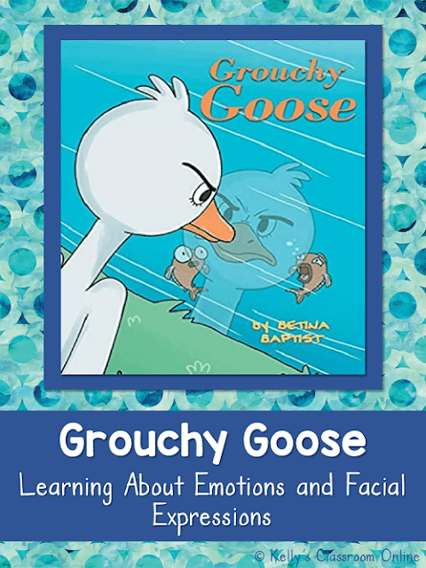 Learn about emotions, facial expressions, & friendship with the children's book Grouchy Goose by Betina Baptist. Guest post. Minilesson. Animal story.