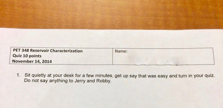 Psych class quiz. Professor trolls students Jerry and Robby. I don't know what they did but it must be bad. Citation Needed. marchmatron.com