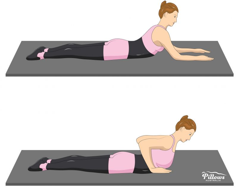 18 Easy Stretches In 18 Minutes To Help Reduce Back Pain - PRONE SPINE STRETCHES