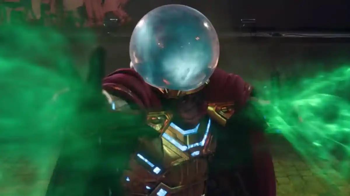 Quentin Beck (Jake Gyllenhaal), o Mysterio, em Homem-Aranha: Longe de Casa.