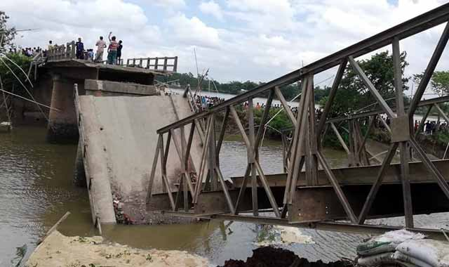 Road contact with Roumari is broken after the Jamalpur Bridge collapsed
