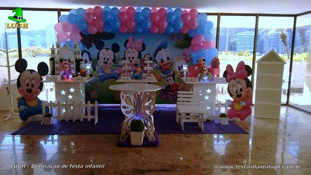 Decoração infantil de 1 ano feminina - tema Baby Disney
