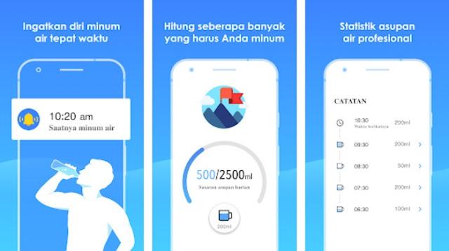 Aplikasi jadwal pengingat minum air putih