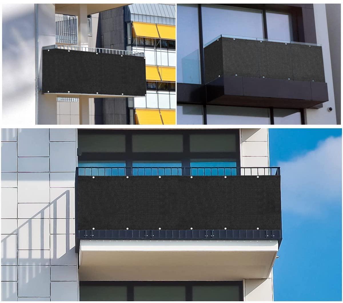 Pantalla para balcón con protección UV