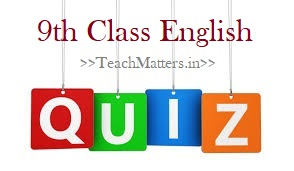 image: 9th Class English Online Test Quiz @ TeachMatters