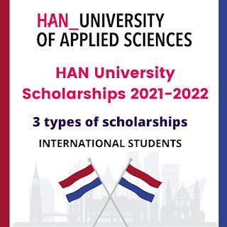 Bourses d'études de l'Université Han 2022 aux Pays-Bas entièrement financées