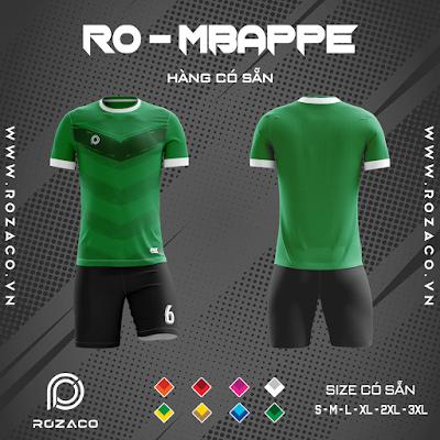 Áo Không Logo Rozaco RO-MBAPPE Màu Xanh Lá