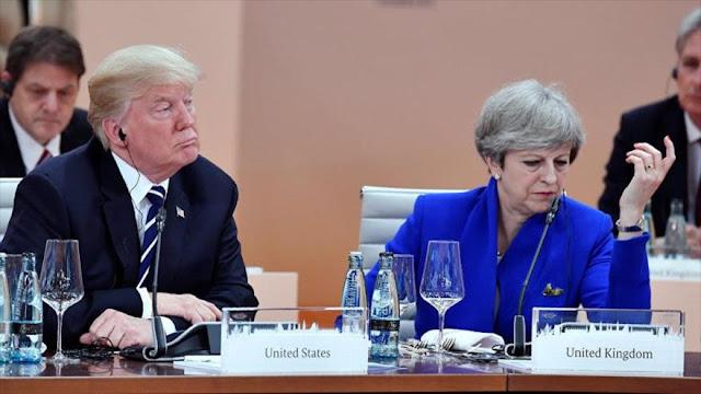 Trump pide que May le 'arregle' una cálida bienvenida a Londres