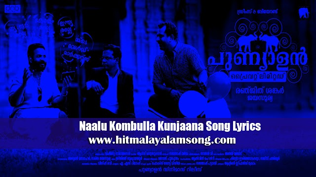 Naalu Kombulla Kunjaana Song Lyrics | Punyalan Private Limited Movie Songs Lyrics