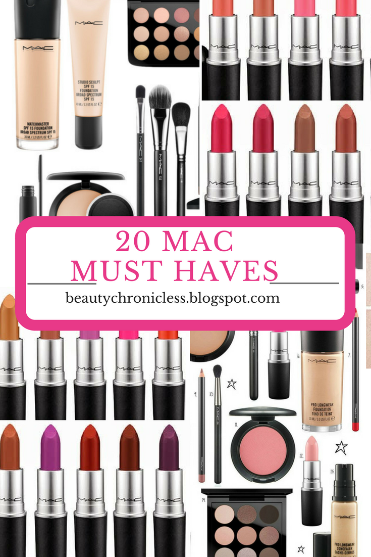 Super Beauty Chronicles: 20 MAC COSMETICS MUST HAVEs #TV86