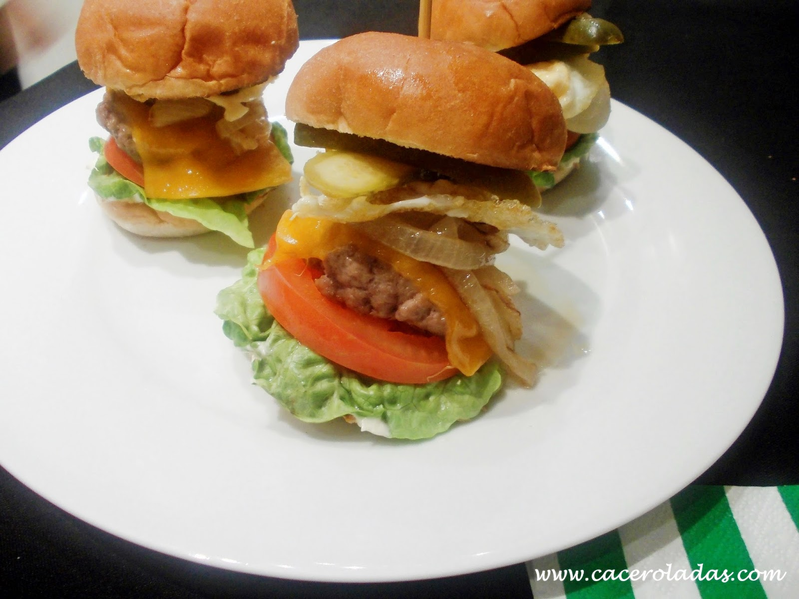 Hamburguesas (mini) de carne de buey