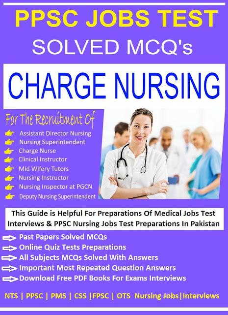 PPSC Latest Jobs Test MCQs Preparation For Charge Nursing