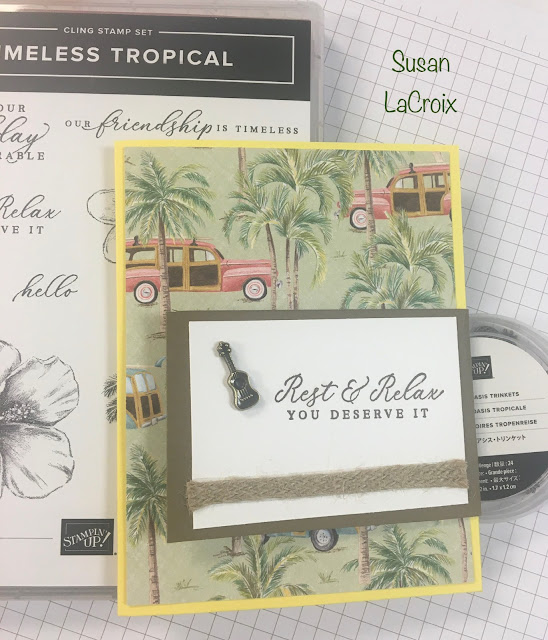 Stampin' Up!, Tropical Oasis, www.stampingwithsusan.com, Braided Burlap Trim, Stampin' Up! 2020 Mini Catalog,