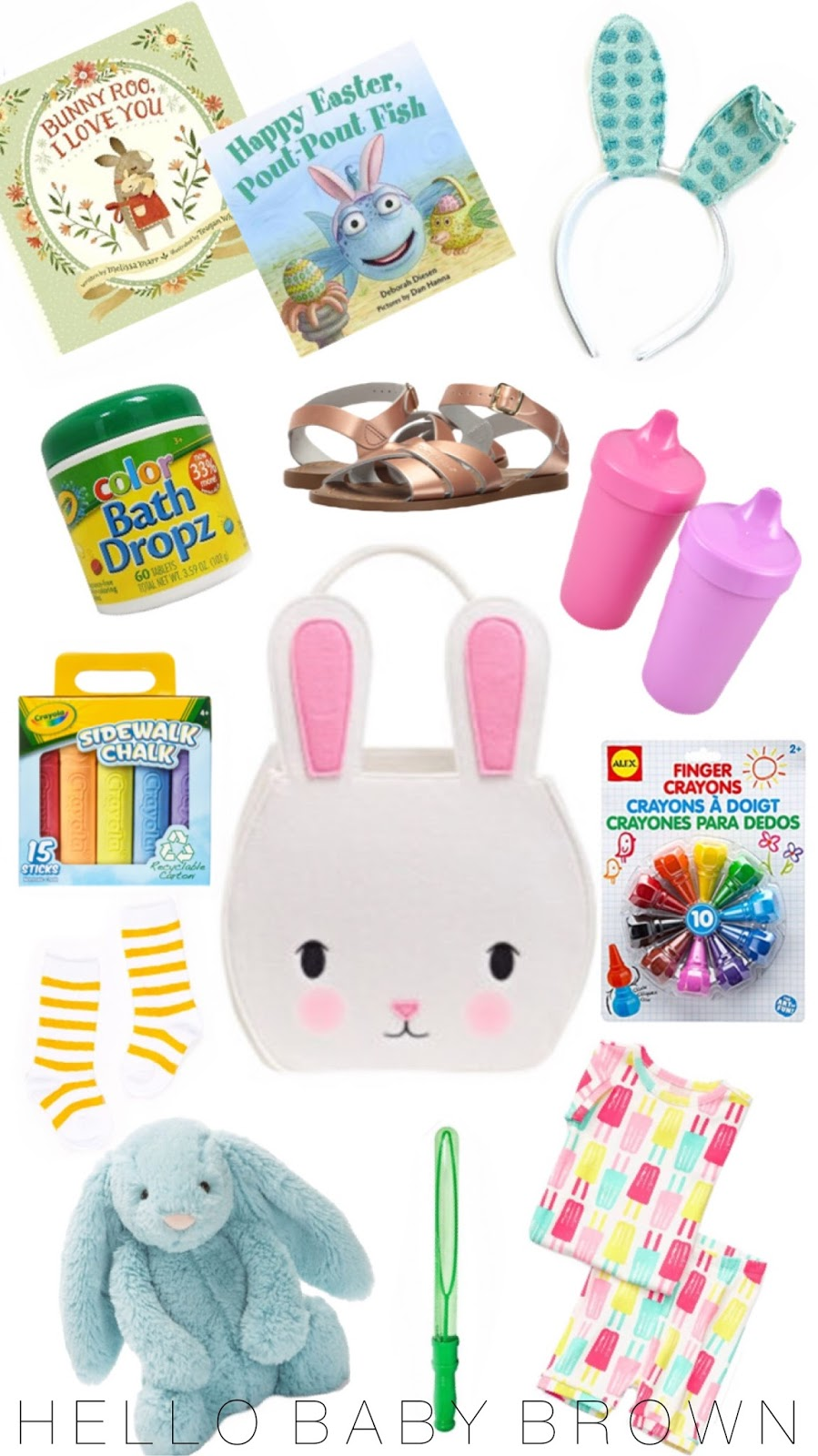 Hello baby brown easter basket ideas i know that using a wire basket is the trendy easter basket right now i think that idea is so darling but there is something so nostalgic to me about negle Choice Image