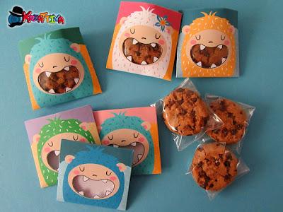 bustina porta biscotti fai da te realizzata da Kreattiva e Acchiappaidee