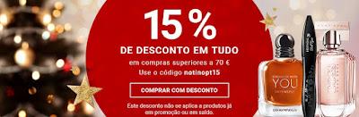 Desconto 15% na loja online Notino