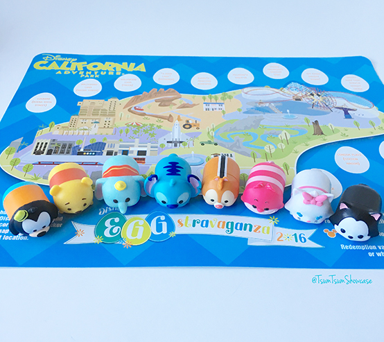 Disney California Adventure Egg-stravaganza Map 2016 with my Tsum Tsums