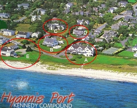 Aerial view of Kennedy compound
