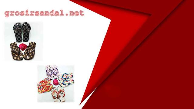 Pusat Sandal Murah AMX Motif Bunga Anak-anak
