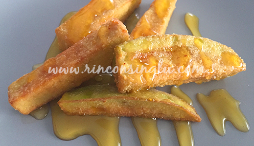 berenjenas fritas con miel sin gluten