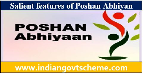 Salient features of Poshan Abhiyan