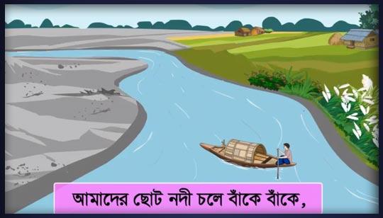 Amader Choto Nodi Poem Bengali Rhymes