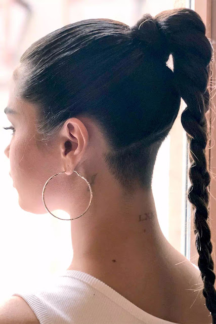 Selena Gomez Shaved Undercut