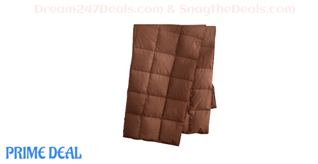 Natural Down Packable Throw Sport Blanket  40% OFF