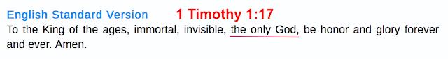 1 Timothy 1;17.
