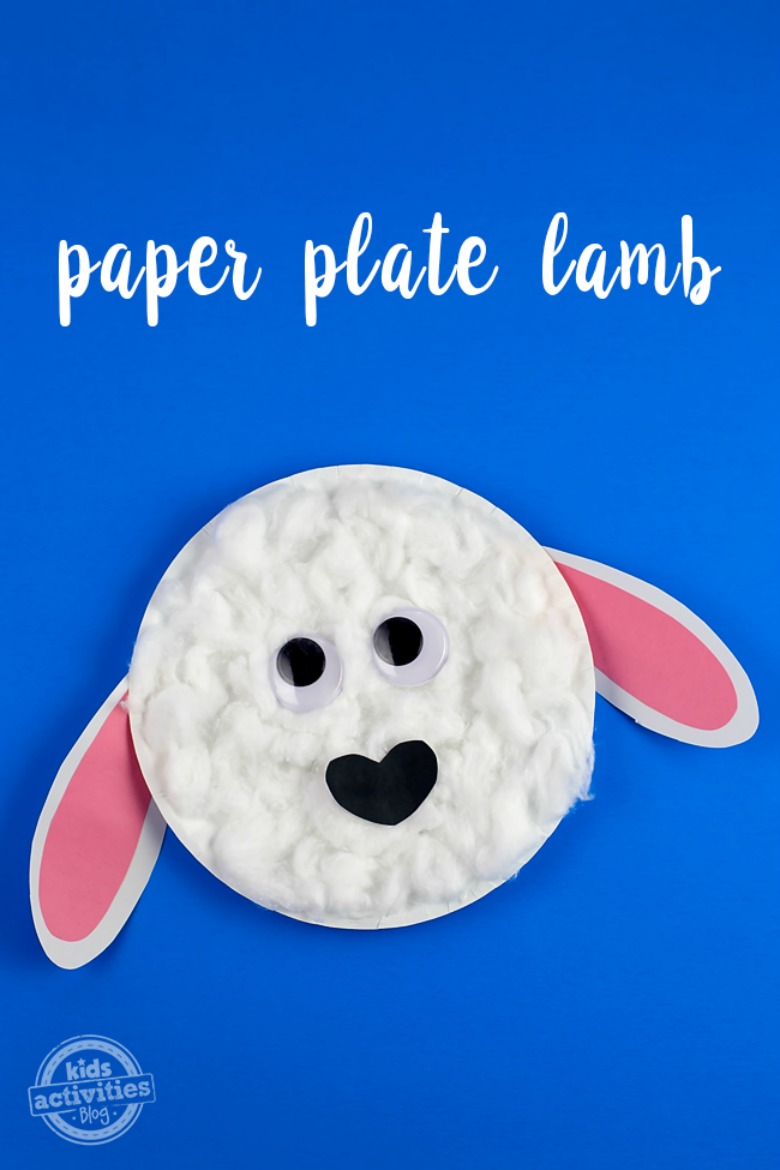 Paper plate animals lamb craft
