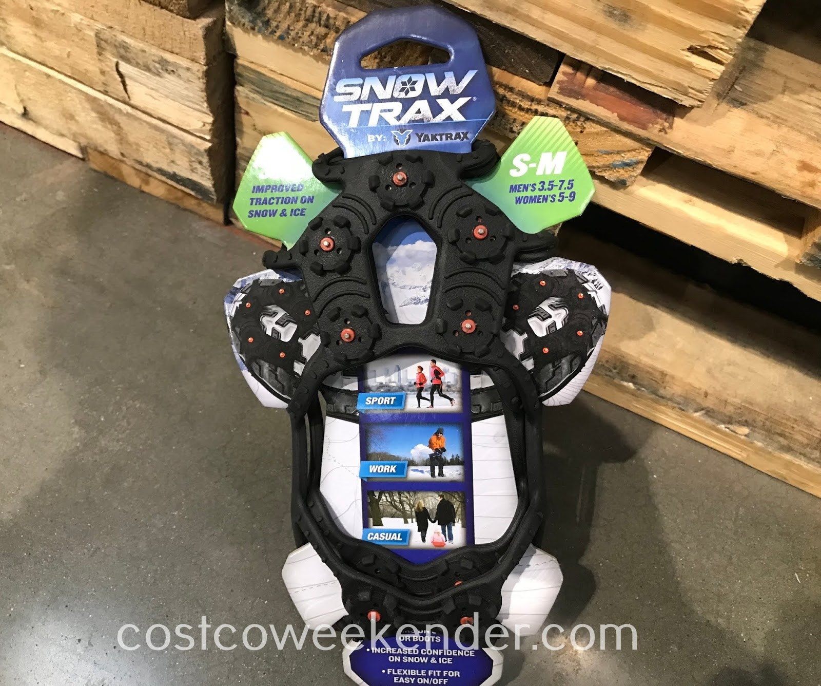 Avoid slipping and falling in snowy conditions with Yaktrax SnowTrax