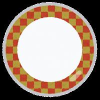 回転寿司の皿のイラスト4
